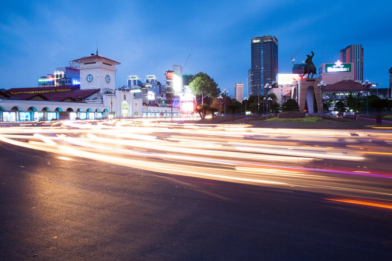 Достопримечательности Хошимина, Вьетнам: Рынок Бен Тхань