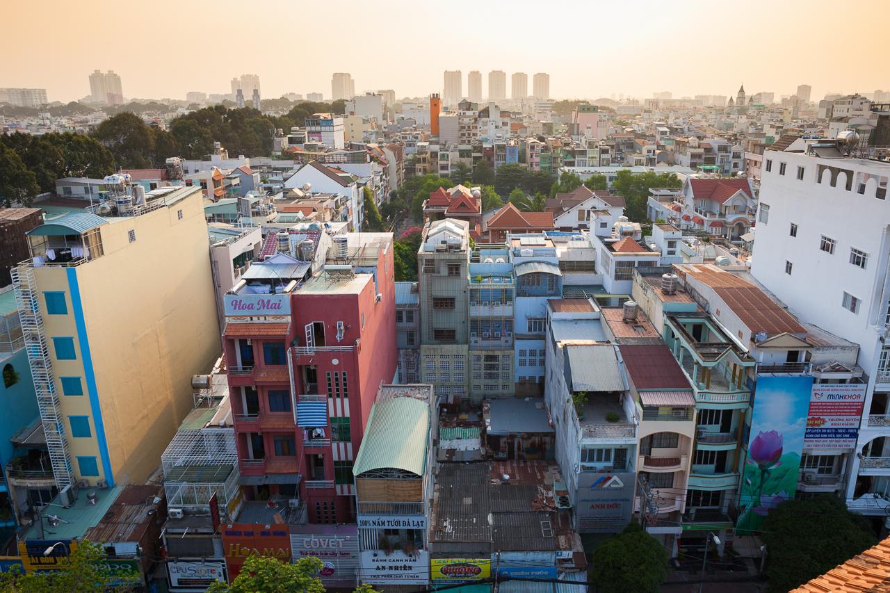 Достопримечательности Хошимина, Вьетнам: Вид с пагоды Куок Ту