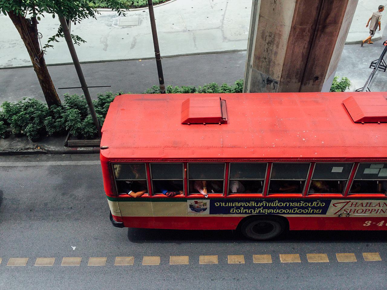 Путешествие по Таиланду, Бангкок: Самый дешевый вид автобуса