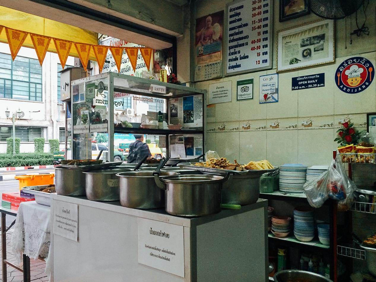Путешествие по Таиланду, Бангкок: Типичное кафе-столовая
