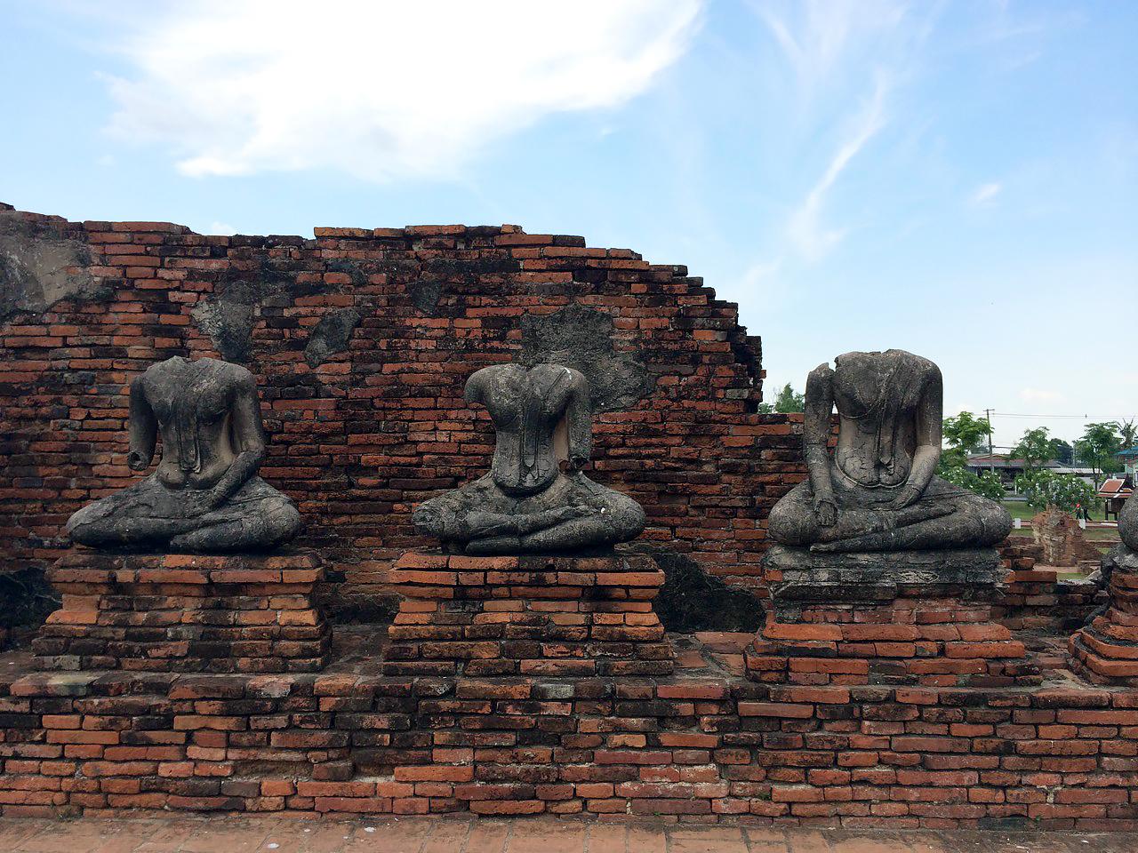 Путешествие по Таиланду, Аюттхая: Будды без голов