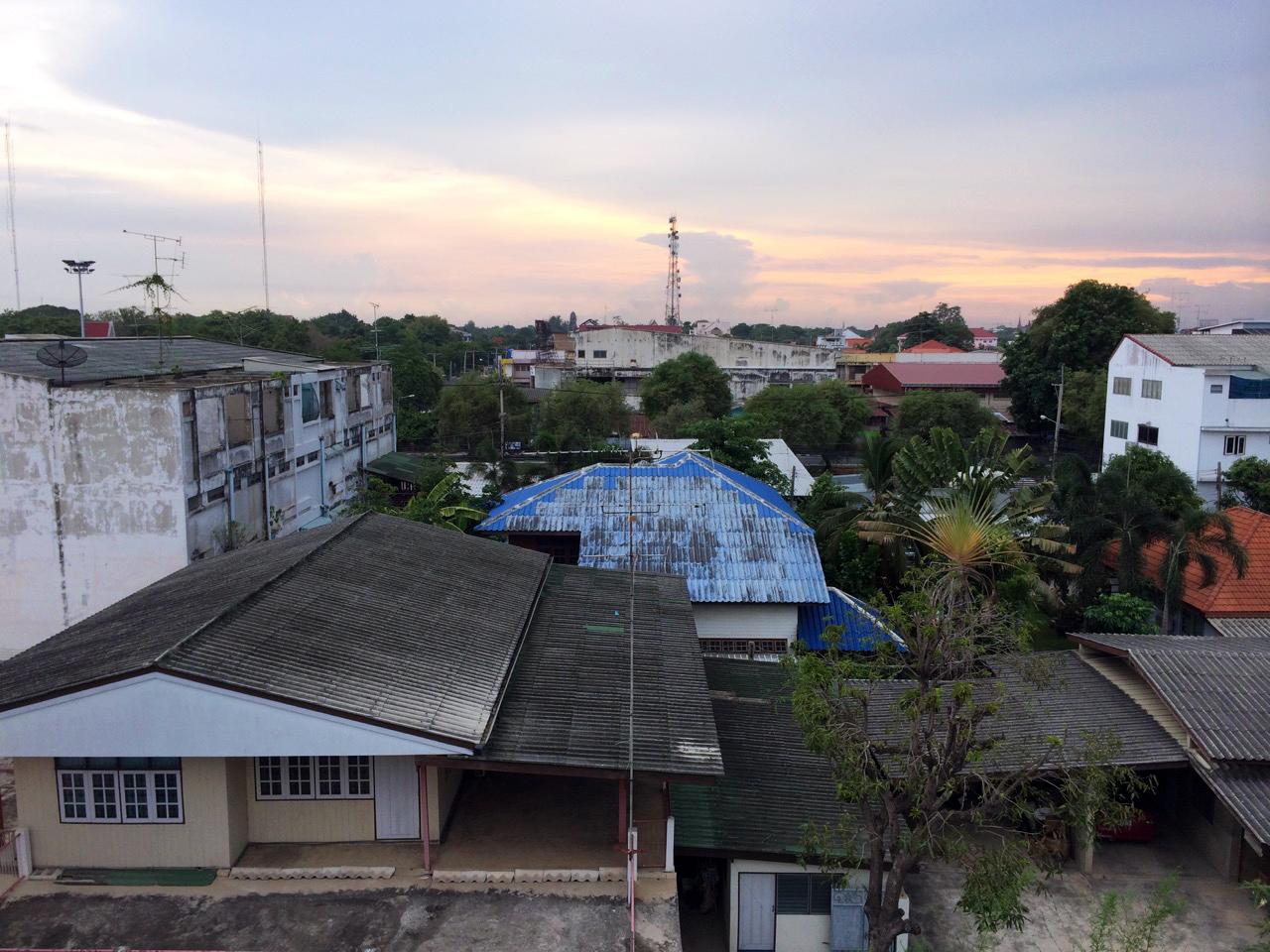 Путешествие по Таиланду, Аюттхая: Вид с балкона