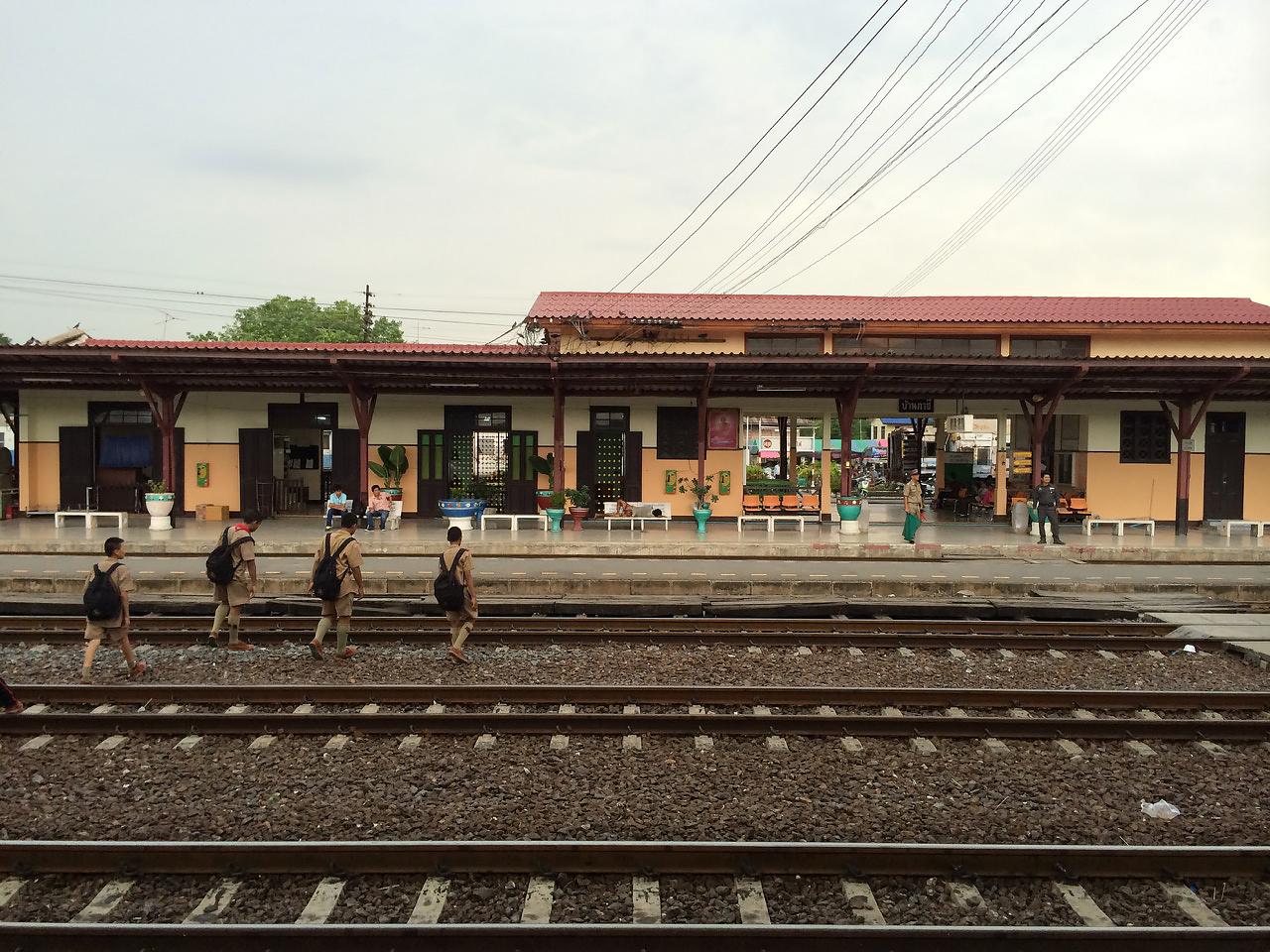 Путешествие по Таиланду, Аюттхая: Железнодорожная станция Аюттхаи