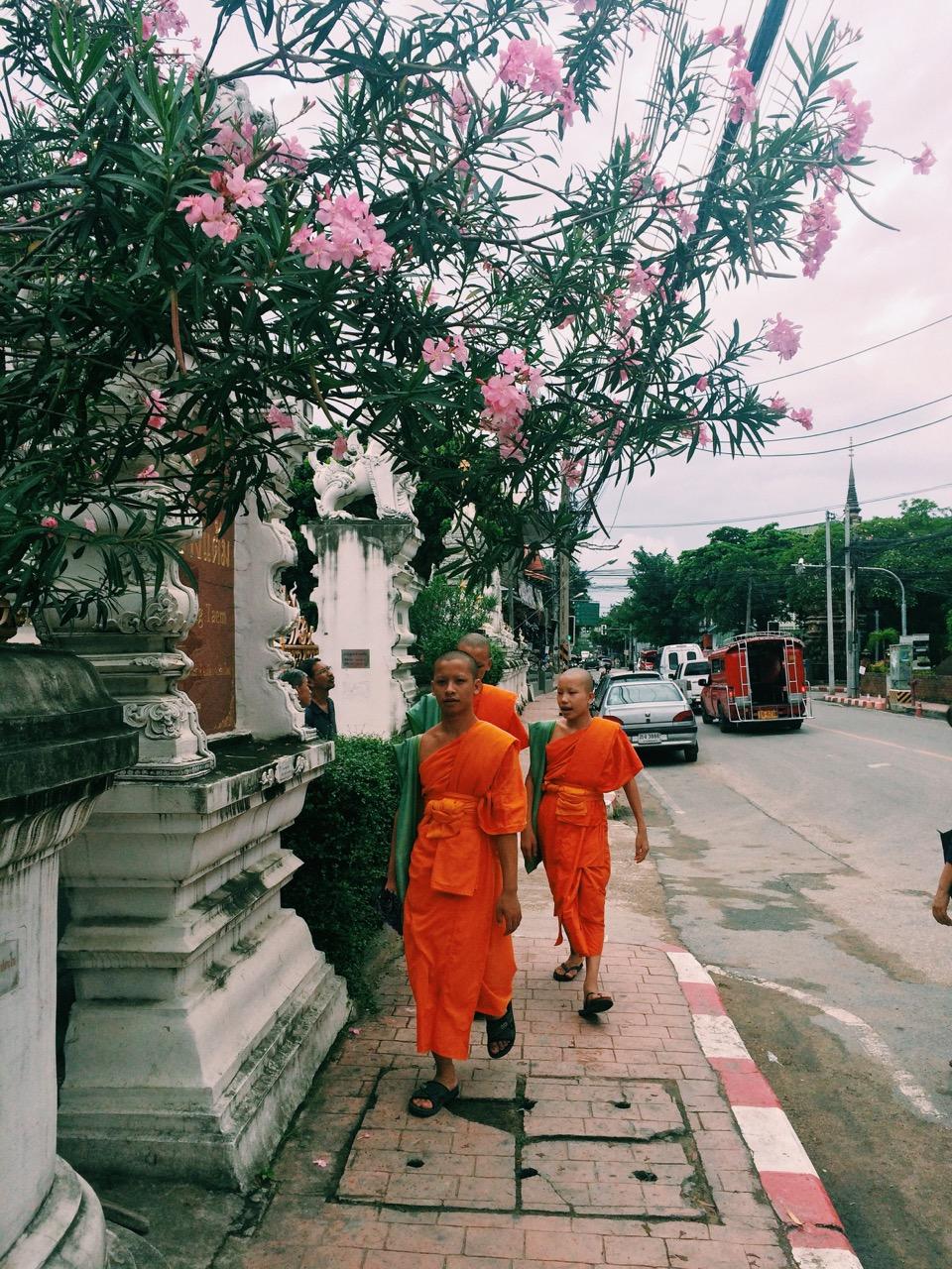 Путешествие по Таиланду, Чиангмай: Монахи в Старом Городе