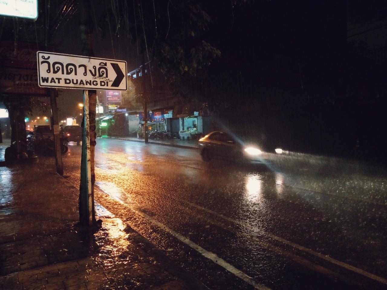 Путешествие по Таиланду, Чиангмай: Конец мая — начало сезона дождей