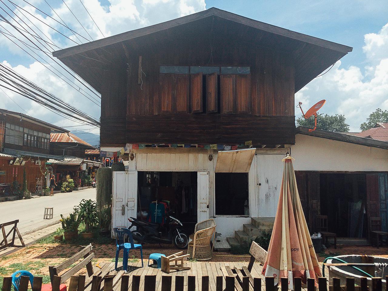 Путешествие по Таиланду, Пай: Деревянная застройка