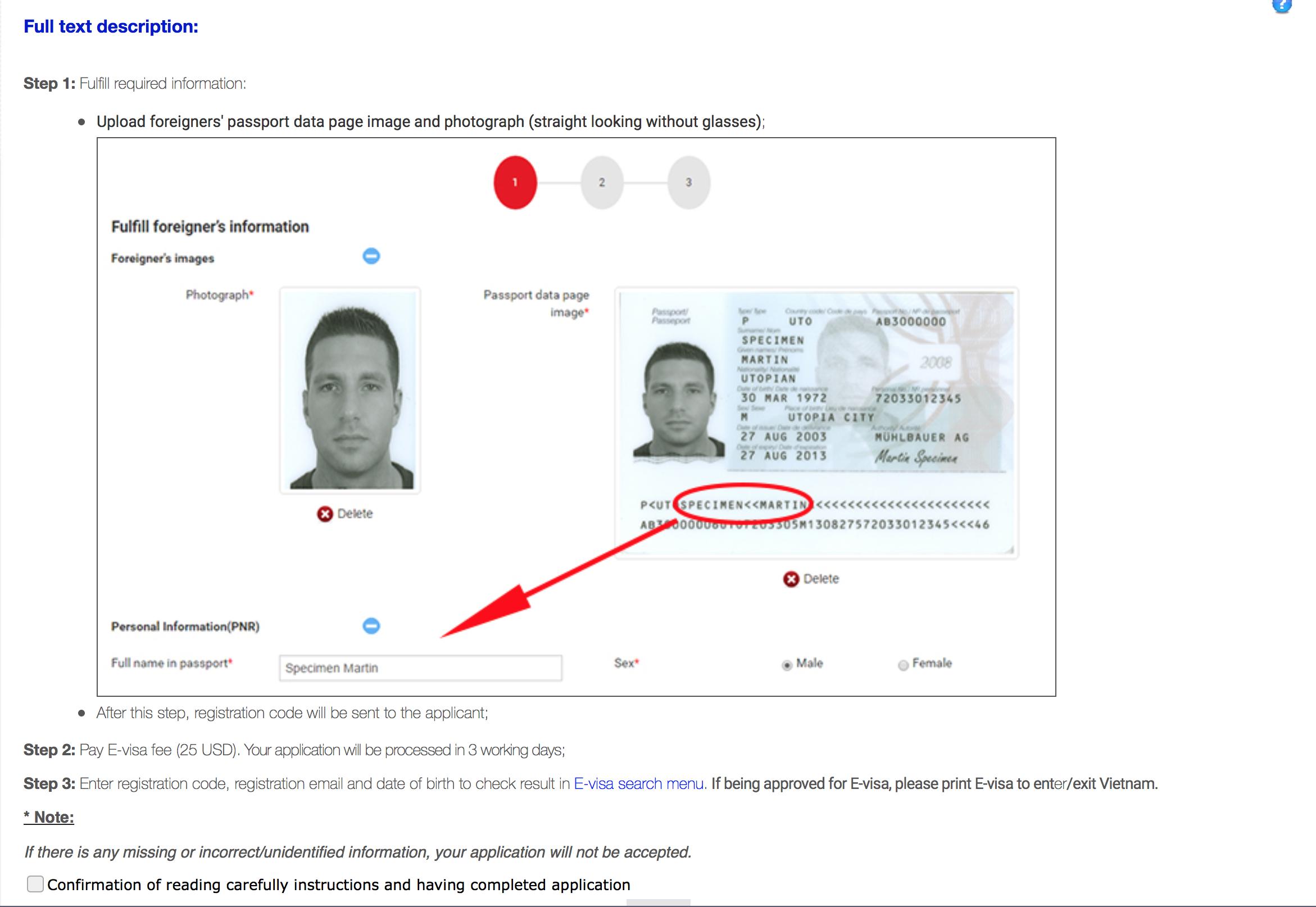 Как оформить визу во Вьетнам: анкета на электронную визу E-Visa