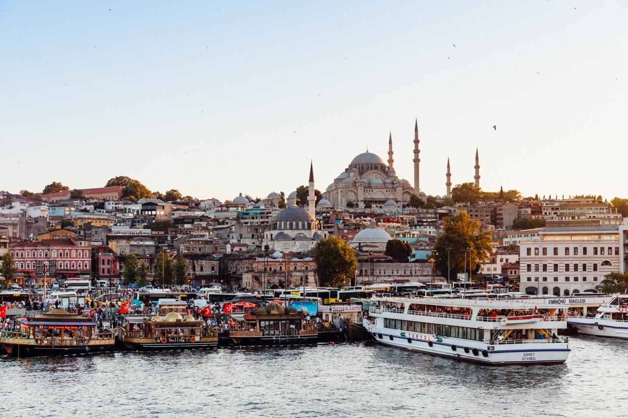 Стоповер в Стамбуле. День 2: Вид на Фатих с Галатского моста